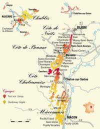 Bourgogne kaart
