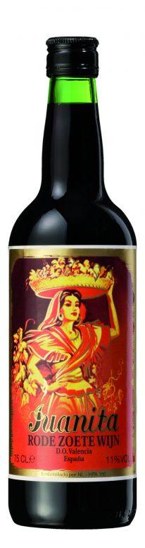 Juanita rode zoete wijn