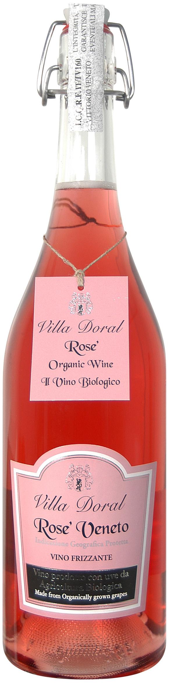 Villa Doral, Rosé Veneto, Vino Frizzante Organic