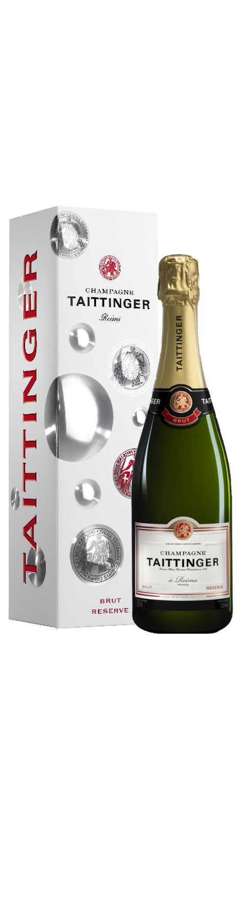 Champagne Taittinger Brut Réserve in luxe verpakking