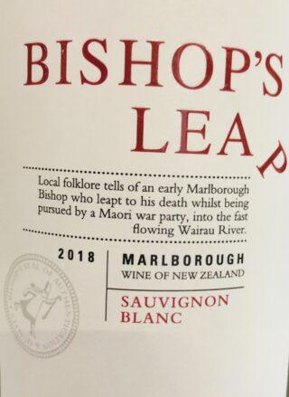 Bishop's Leap 2018 etiket